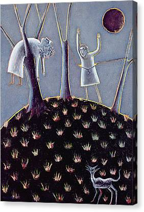 In Praise Of Expectation, 1991 Oil On Canvas Canvas Print by Celia Washington