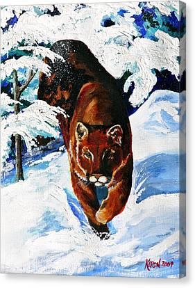In Pursuit Canvas Print by Karon Melillo DeVega