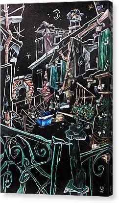 In Sospensione - Wallpaper Venice Italy - Venedig Kunstausstellung Canvas Print by Arte Venezia