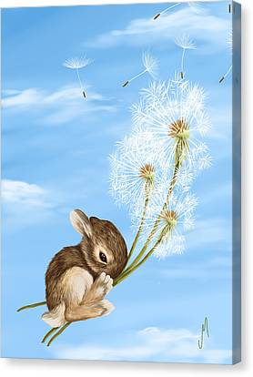 In The Air Canvas Print by Veronica Minozzi