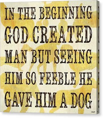 In The Beginning... Canvas Print by Debbie DeWitt