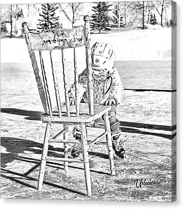 In The Beginning Canvas Print by Elizabeth Urlacher