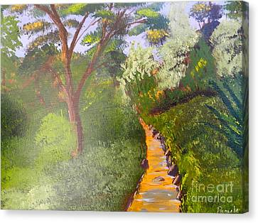 In The Bush Near My Place Canvas Print by Pamela  Meredith