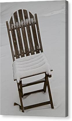 In The Cold Canvas Print by Odd Jeppesen