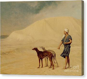 In The Desert Canvas Print by Jean Leon Gerome