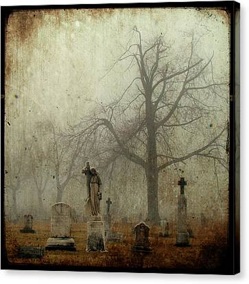 In The Fog - You Can See Her Canvas Print by Gothicolors Donna Snyder