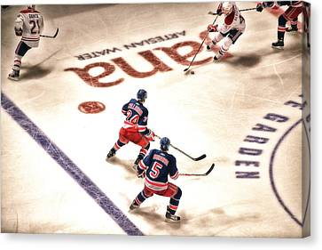 In The Game Canvas Print by Karol Livote