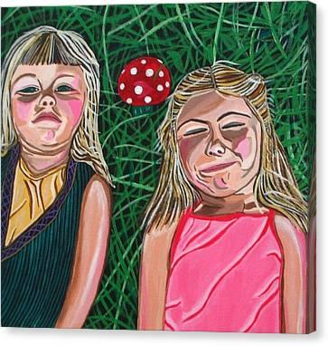 In The Garden Canvas Print by Sandra Marie Adams