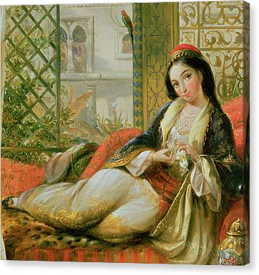 In The Harem Canvas Print by Anonymous