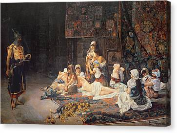 In The Harem Canvas Print by Jose Gallegos Arnosa
