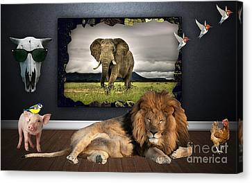 In The Jungle Canvas Print by Marvin Blaine