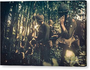 In The Jungle - Vietnam Canvas Print by Edward Fielding
