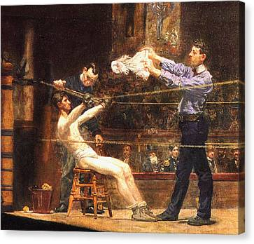 In The Mid Time Detail Canvas Print by Thomas Eakins