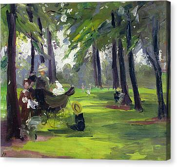 In The Park  Canvas Print by Mary C Greene