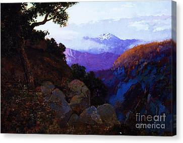 In The Shadows Ciffs Of San Juan Canvas Print by Pg Reproductions