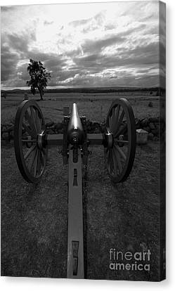 In The Sights At Gettysburg Canvas Print by James Brunker