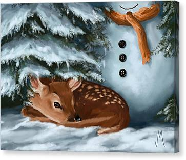 In The Snow Canvas Print by Veronica Minozzi