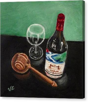 In Vino Veritas 2 Canvas Print by Victoria Lakes
