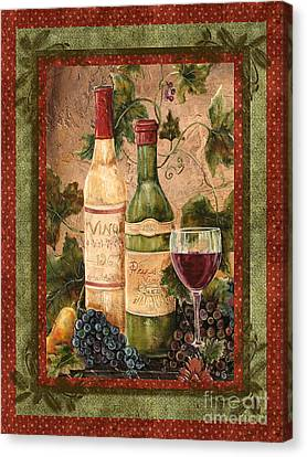 In Vino Veritas Canvas Print by Jean Plout