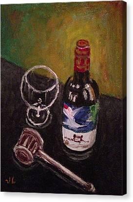 In Vino Veritas Canvas Print by Victoria Lakes