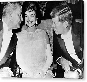 Inaugural Ball Conversation Canvas Print by Underwood Archives