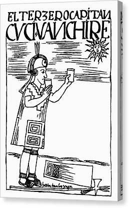 Inca Sun Worship Canvas Print by Granger