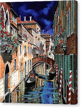 Inchiostro Su Venezia Canvas Print by Guido Borelli