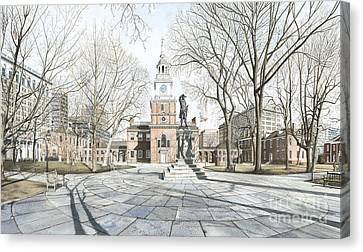 Independence Hall Canvas Print by Keith Mountford