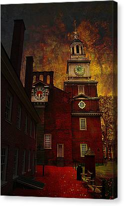 Independence Hall Philadelphia Let Freedom Ring Canvas Print by Jeff Burgess