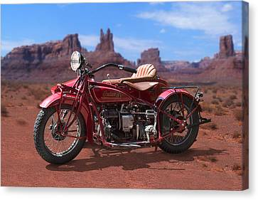 Indian 4 Sidecar 2 Canvas Print by Mike McGlothlen