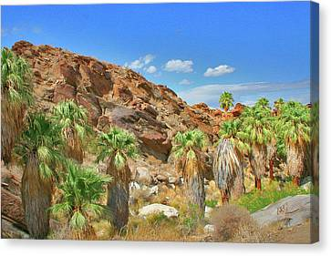 Indian Canyons View In Palm Springs Canvas Print by Ben and Raisa Gertsberg