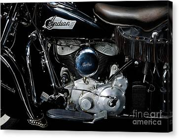 Indian Chief Blackhawk Engine Canvas Print by Frank Kletschkus