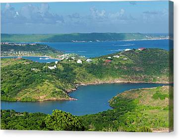 Indian Creek Point, Antigua, West Canvas Print by Nico Tondini