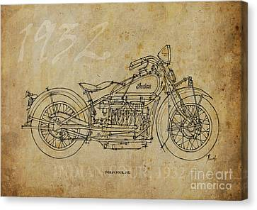 Indian Four 1932 Canvas Print by Pablo Franchi