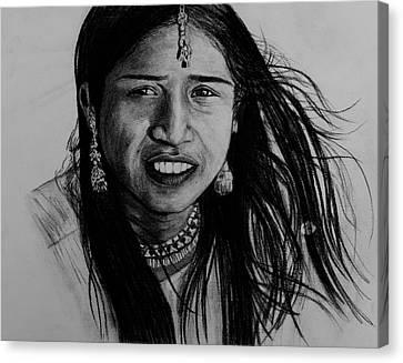 Indian Girl Canvas Print by Caroline  Reid