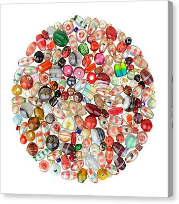 Indian Glass Beads Canvas Print by Jim Hughes