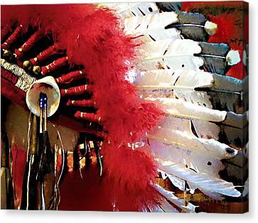 Indian Headdress Canvas Print by Julie Palencia