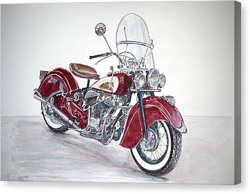 Indian Motorcycle Canvas Print by Anthony Butera