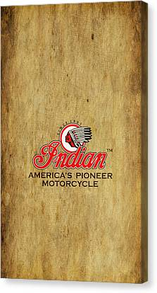 Indian Motorcycle Phone Case Canvas Print by Mark Rogan