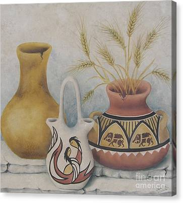 Indian Pots Canvas Print by Summer Celeste