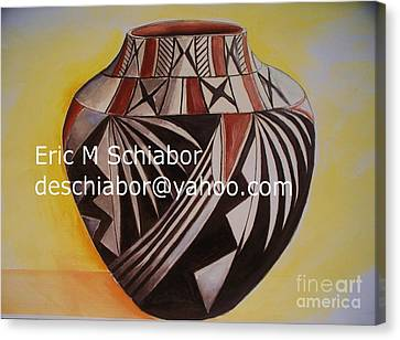 Indian Pottery Canvas Print by Eric  Schiabor