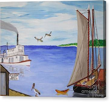 Indian River Commerce-1900 Canvas Print by Bill Hubbard
