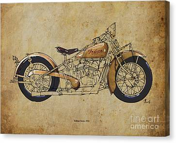 Indian Scout 1932 Canvas Print by Pablo Franchi