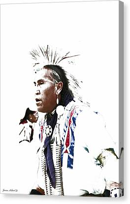 Indian Warrior Canvas Print by Robert Jensen
