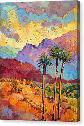 Textures Canvas Print featuring the painting Indian Wells by Erin Hanson