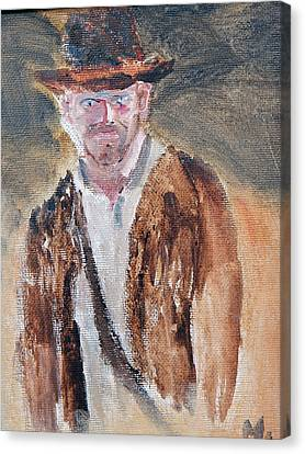 Indiana Jones Canvas Print by Michael Helfen