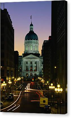 Indiana State Capitol Building Canvas Print by Panoramic Images