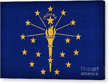 Indiana State Flag Canvas Print by Pixel Chimp