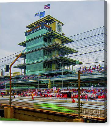 Indianapolis 500 May 2013 Square Canvas Print by David Haskett