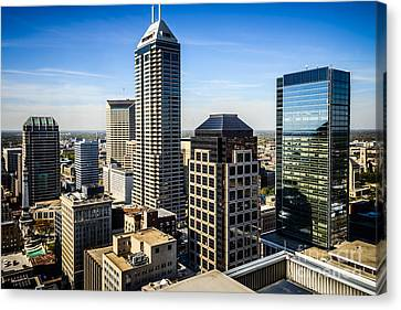 Indianapolis Aerial Picture Of Downtown Office Buildings Canvas Print by Paul Velgos